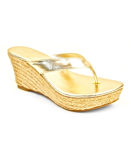 Gold Aruba Wedge