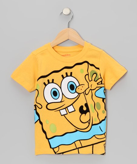 Yellow & Blue SpongeBob Tee - Kids