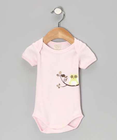 Pink Owl Organic Bodysuit - Infant