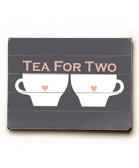 'Tea for Two ' Wood Wall Art