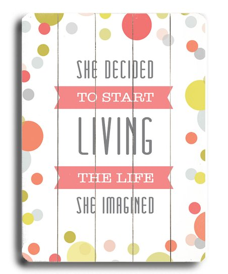 'She Decided To Start' Wood Wall Art