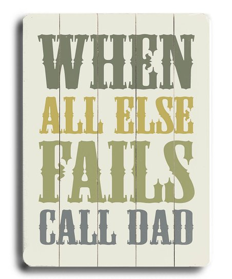 'Call Dad' Wood Wall Art