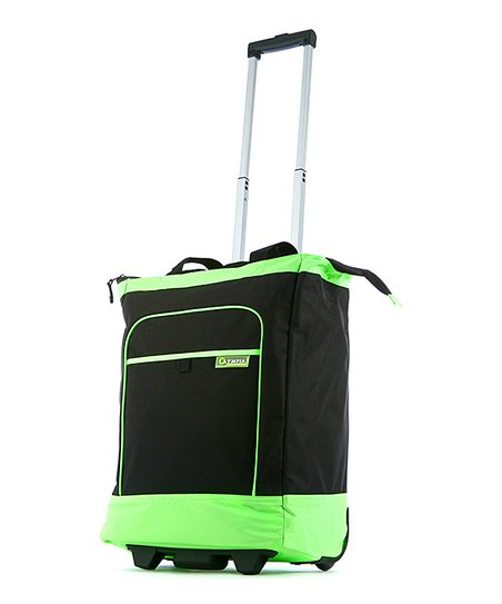 Lime 20'' Deluxe Wheeled Shopper Tote