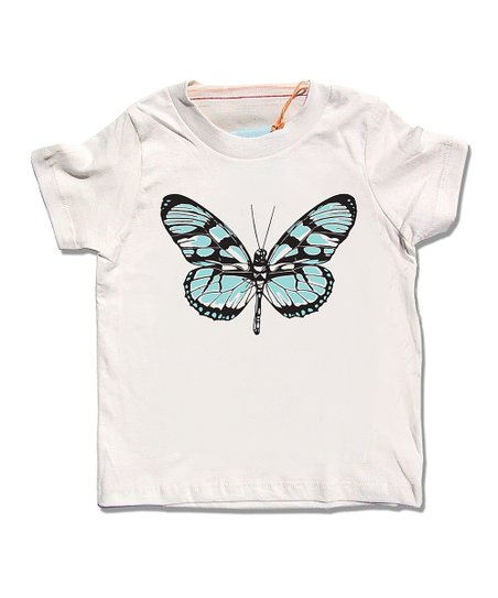 Cream Butterfly Organic Tee - Infant, Toddler &amp; Girls