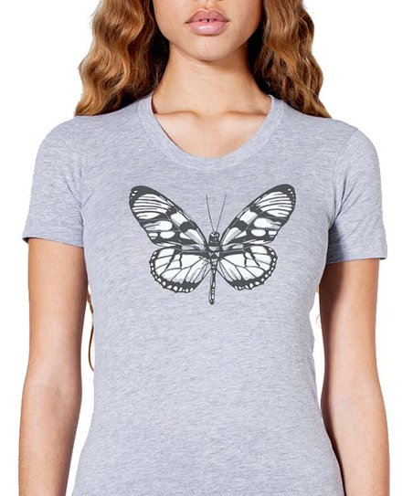 Heather Butterfly Tee - Women
