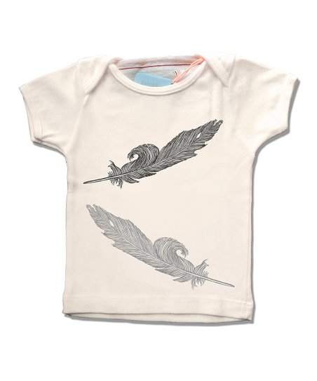 Cream Feather Organic Tee - Infant, Toddler & Kids