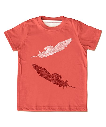 Papaya Feather Organic Tee - Infant, Toddler & Girls