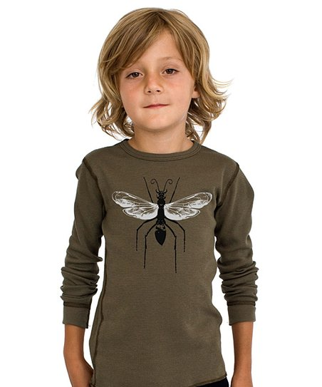 Army Green Wasp Thermal Tee - Toddler & Boys