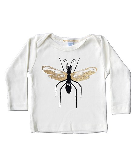 Cream Wasp Organic Long-Sleeve Tee - Infant, Toddler & Kids