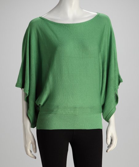 Green Dolman Top
