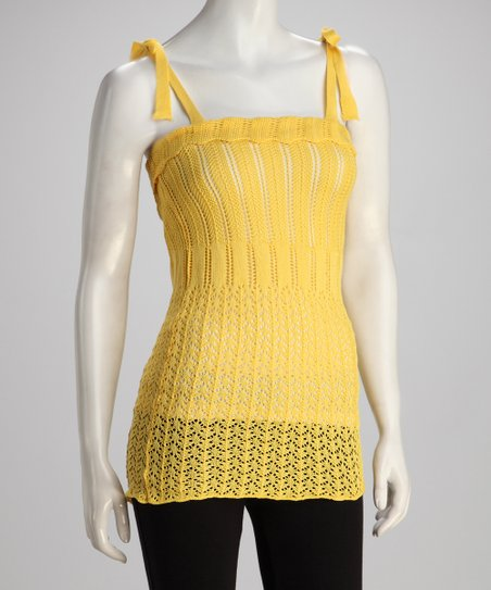 Yellow Crocheted Dress
