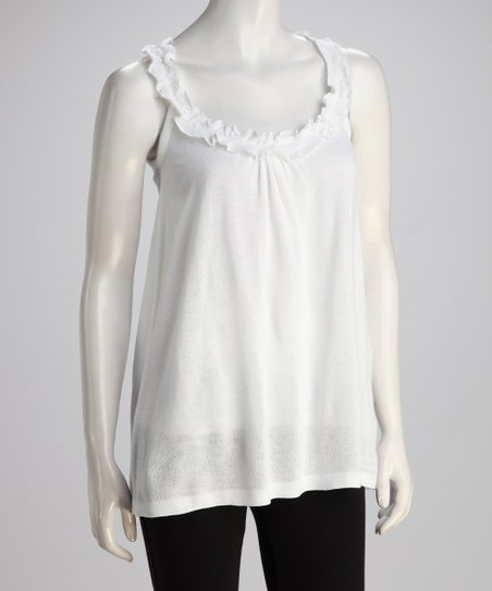 White Ruffle Tunic