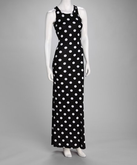 Black Polka Dot Maxi Dress