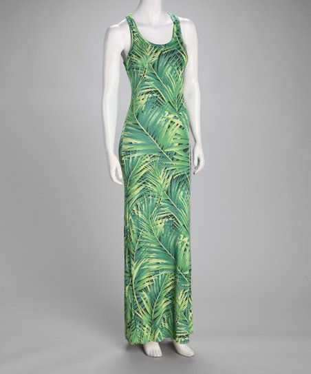 Green Leaves Maxi Dress