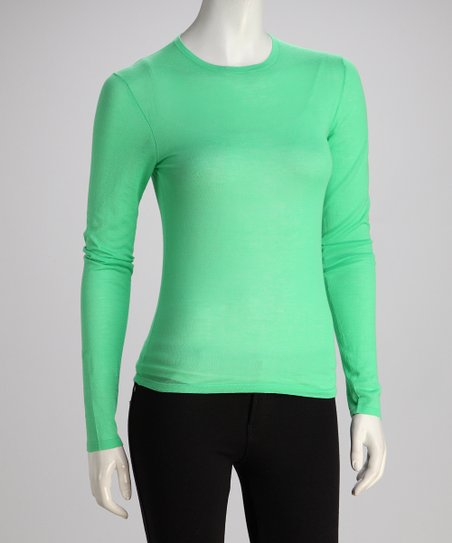 Wakaba Long-Sleeve Crewneck Knit Top