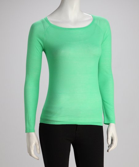 Wakaba Long-Sleeve Boatneck Knit Top