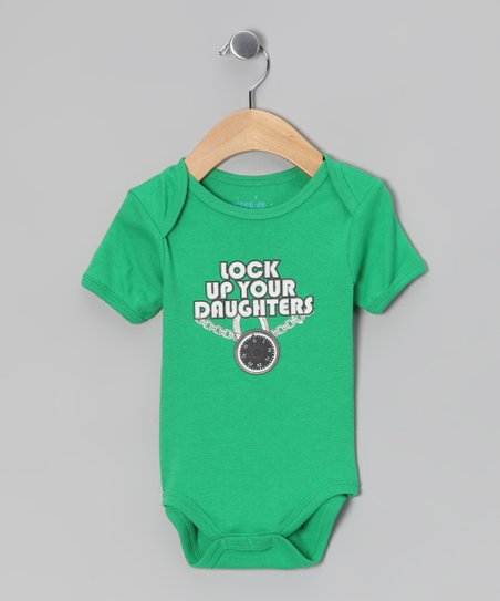 Green 'Lock Up Your Daughters' Bodysuit - Infant
