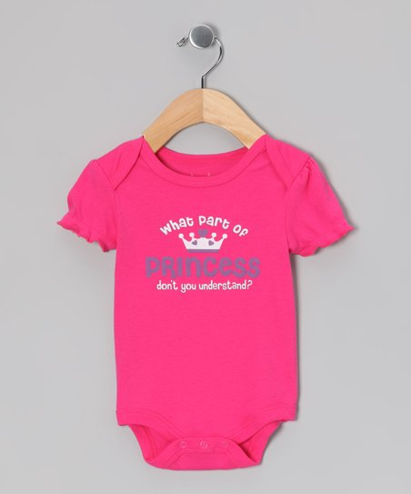Fuchsia Do You Understand Princess Bodysuit - Infant