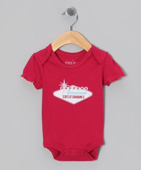 Cherry 'What Happens At Grandma's' Bodysuit - Infant