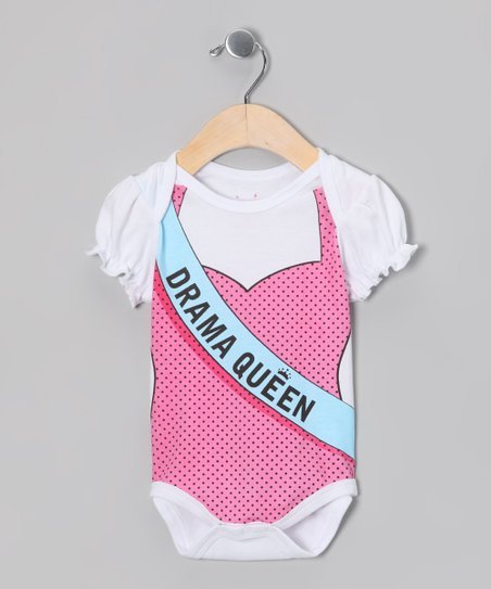 White 'Drama Queen' Bodysuit - Infant