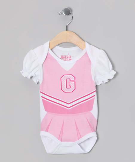 White Cheerleader Bodysuit - Infant
