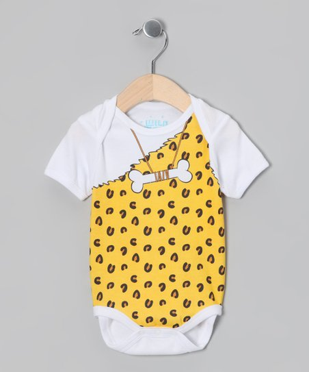 White Caveman Bodysuit - Infant