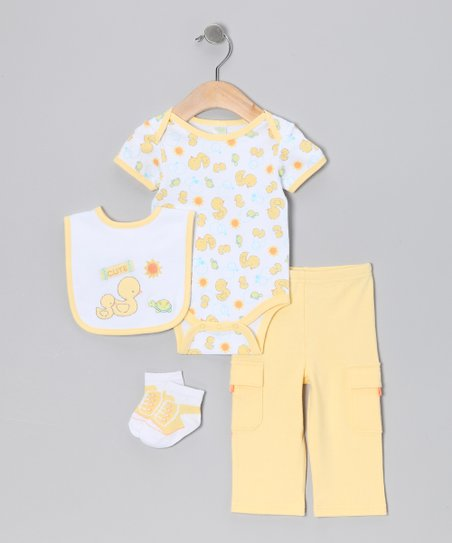 Yellow 'Ducky' Bodysuit Set