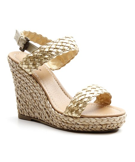 Gold Rock 'Em Wedge Sandal