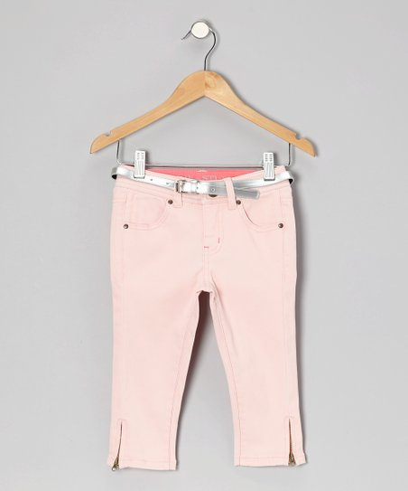 Light Pink Yacht Capri Pants - Girls