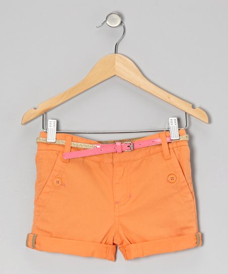 Spring Mango Freesia Shorts - Toddler & Girls