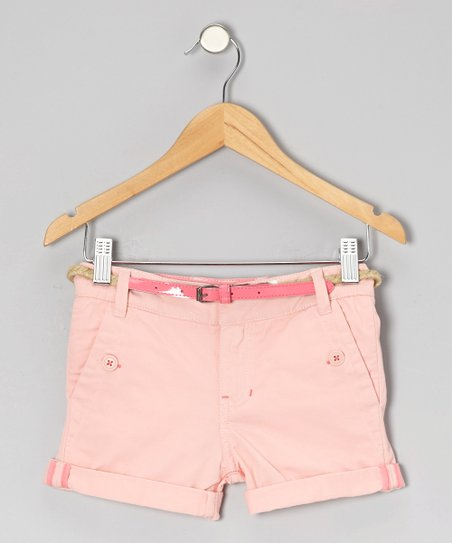 Light Pink Freesia Shorts - Girls