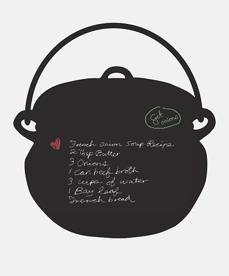 Black Cooking Pot Chalkboard Wall Decal