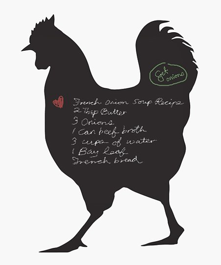 Rooster Chalkboard Wall Decal