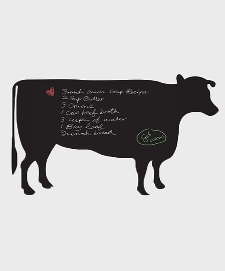 Black Cow Chalkboard Wall Decal