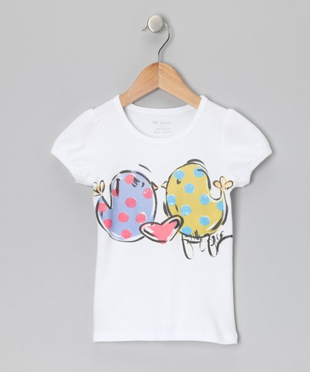 White & Green Love Birds Tee - Infant, Toddler & Girls