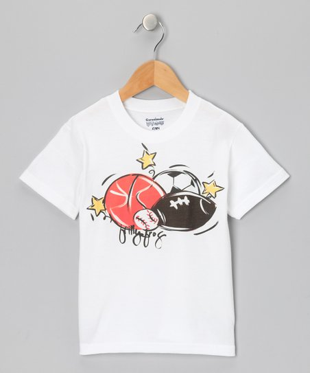 White & Orange Sport Tee - Infant, Toddler & Boys