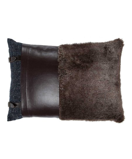 Brown Rustic Lumbar Pillow