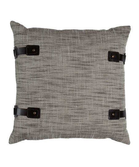 Antique White & Black Tweed Pillow