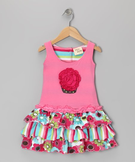 Pink Blossom Cupcake Dress - Toddler & Girls