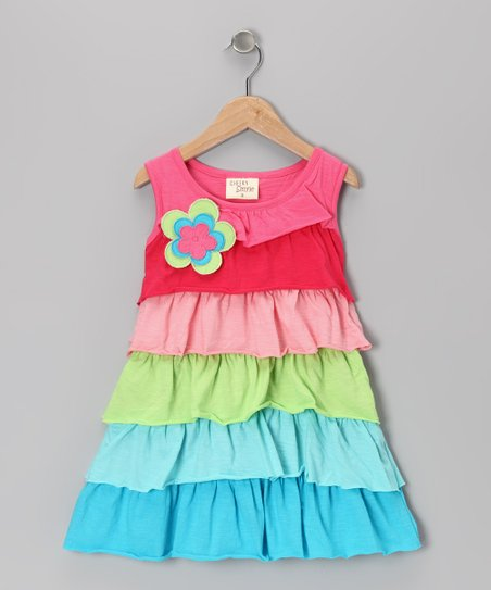 Rainbow Ruffle Tunic - Toddler & Girls