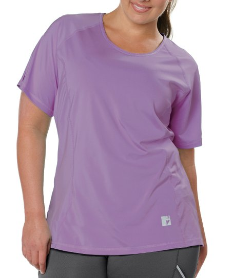 Lavender Solid Tee - Plus