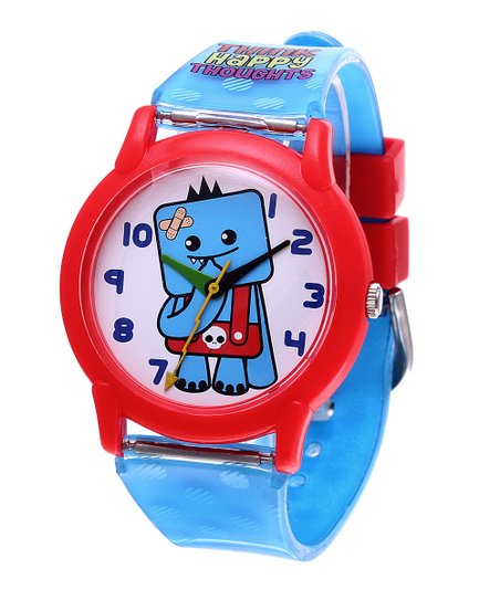 Blue Ozzie &#039;Think Happy Thoughts&#039; Watch