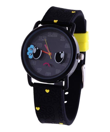 Black Doom Drop Face Watch