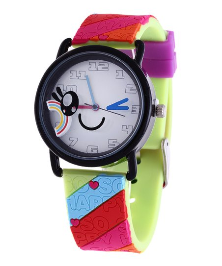 Rainbow Wink Face Watch