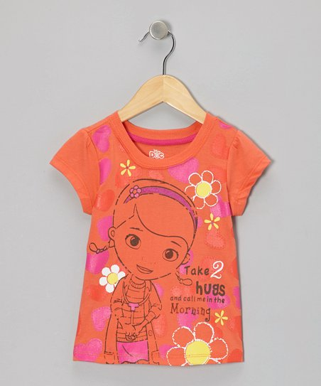 Orange 'Take 2 Hugs' Tee - Toddler & Girls