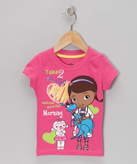 Pink 'Take 2 Hugs' Doc McStuffins Tee - Toddler & Girls