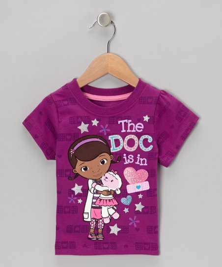 Purple Bandage 'The Doc Is In' Tee - Toddler & Girls