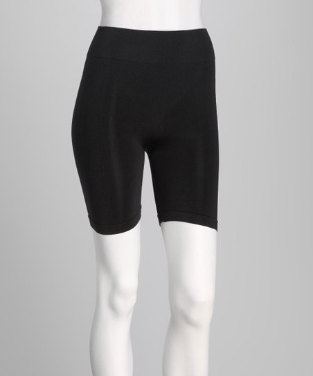 Black Seamless Shaper Shorts - Women & Plus