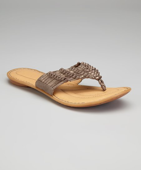 Tobacco Metallic Leather Elyse Sandal