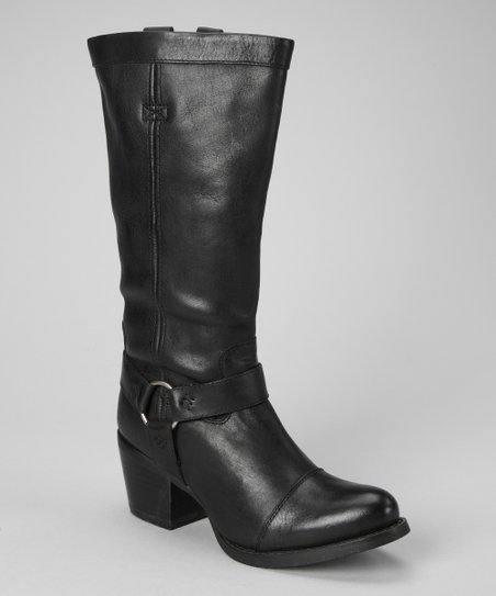 Black Philly Harness Boot - Women